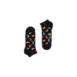 Skarpetki Happy Socks - Hot Dog Low (HOT05-9000). Czarne skarpety męskie Happy Socks, w kolorowe wzory, z bawełny. Za 27.90 zł.
