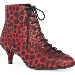 Skórzane botki w kolorze czarno-czerwonym. Czarne botki damskie Stella Luna. W wyprzedaży za 591.95 zł.