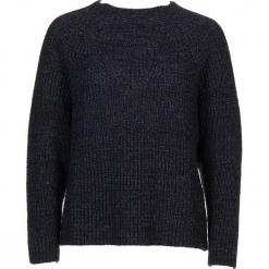 Sweter w kolorze niebiesko-czarnym. Czarne swetry damskie Gottardi, prążkowane, z okrągłym kołnierzem. W wyprzedaży za 173.95 zł.