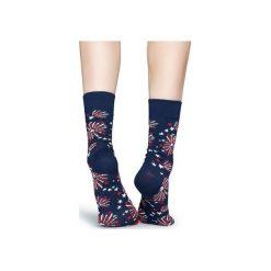 Skarpetki Happy Socks  FIR01-6000. Czerwone skarpety męskie Happy Socks, z bawełny. Za 24.43 zł.