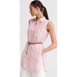 6941a549c2c0ae Bluzka z bawełny organicznej - Różowy. Czerwone bluzki damskie Reserved,  bez wzorów, z