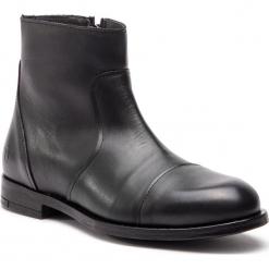 Kozaki TRUSSARDI JEANS - 77A001179 K299. Czarne kozaki męskie TRUSSARDI JEANS, z jeansu. Za 809.00 zł.