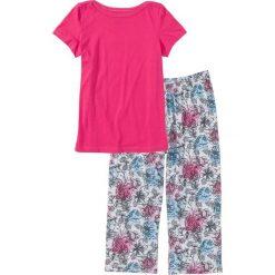 Piżama ze spodniami 3/4 bonprix ciemnoróżowy z nadrukiem. Piżamy damskie marki MAKE ME BIO. Za 54.99 zł.