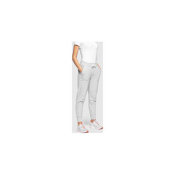 932a13f3d4 Spodnie dresowe damskie SPDD300 - chłodny jasny szary melanż ...