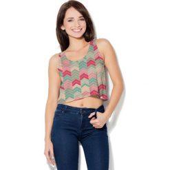 Colour Pleasure Koszulka damska CP-035 101 niebiesko-różowa r. XL-XXL. T-shirty damskie marki Colour Pleasure. Za 64.14 zł.
