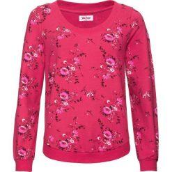 Bluza z nadrukiem, długi rękaw bonprix czerwony z nadrukiem. Bluzy damskie marki KALENJI. Za 32.99 zł.