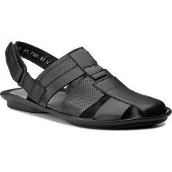 Sandały WOJAS - 7301-51 Czarny. Czarne sandały męskie Wojas, ze skóry. Za 219.00 zł.