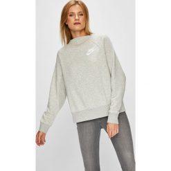 Nike Sportswear - Bluza. Szare bluzy damskie Nike Sportswear, z nadrukiem, z bawełny. W wyprzedaży za 199.90 zł.
