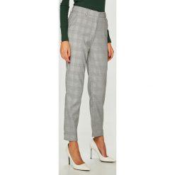 Answear - Spodnie Femifesto. Szare spodnie materiałowe damskie ANSWEAR, z haftami, z elastanu. W wyprzedaży za 99.90 zł.