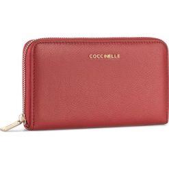Duży Portfel Damski COCCINELLE - BW5 Metallic Soft E2 BW5 11 32 01 Coquelicot 209. Czerwone portfele damskie Coccinelle, ze skóry. W wyprzedaży za 419.00 zł.