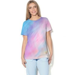Colour Pleasure Koszulka CP-030  75 błękitno-liliowa r. XL/XXL. T-shirty damskie Colour Pleasure. Za 70.35 zł.