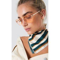 NA-KD Accessories Okulary przeciwsłoneczne kocie oczy - Orange,Gold. Pomarańczowe okulary przeciwsłoneczne damskie NA-KD Accessories. Za 52.95 zł.