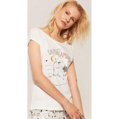 Piżamowa koszulka z liskiem - Kremowy. Białe koszule nocne damskie House. Za 25.99 zł.