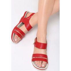Czerwone Sandały Your Life. Czerwone sandały damskie Born2be, z materiału. Za 69.99 zł.