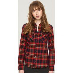 Koszula w kratę - Różowy. Czerwone koszule damskie Sinsay. W wyprzedaży za 29.99 zł.