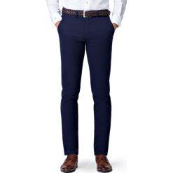 Spodnie Granatowe Chino Mono II. Czarne eleganckie spodnie męskie LANCERTO, z bawełny. Za 299.90 zł.