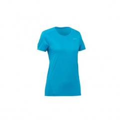 Koszulka turystyczna z krótkim rękawem MH100 damska. Niebieskie t-shirty damskie QUECHUA, z elastanu. Za 14.99 zł.