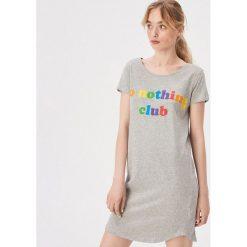 b9d56d7b7baf98 Bawełniana koszula nocna - Jasny szary. Koszule nocne damskie marki Sinsay.  Za 29.99 zł
