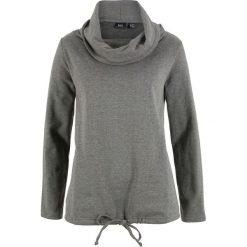 Bluza dresowa bonprix szary melanż. Szare bluzy damskie bonprix, melanż, z dresówki. Za 84.99 zł.