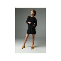 Sukienka Brook - Grafitowa. Szare sukienki damskie Madnezz, w paski, z bawełny, klasyczne, z dekoltem w łódkę. Za 229.00 zł.