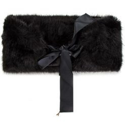 Szal PATRIZIA PEPE - 2V8129/A1RM-K338 Soft Black. Szare szaliki i chusty damskie marki Giacomo Conti, na zimę, z tkaniny. W wyprzedaży za 449.00 zł.