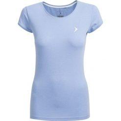 T-shirt damski  TSD616 - niebieski melanż - Outhorn. Niebieskie t-shirty damskie Outhorn, melanż, z bawełny. W wyprzedaży za 24.99 zł.
