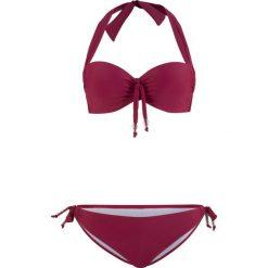 Bikini na fiszbinach (2 części) bonprix bordowy. Bikini damskie marki MAKE ME BIO. Za 89.99 zł.