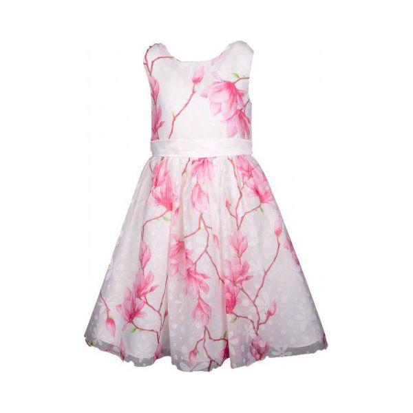 454feddd Happy Girls Sukienka Dziewczęca 116 Biało-Różowa
