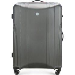 Walizka duża 56-3P-915-00. Brązowe walizki damskie Wittchen, z gumy. Za 319.00 zł.