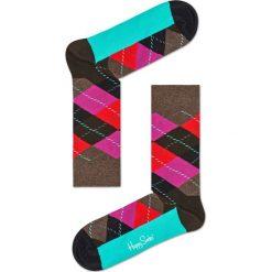 Happy Socks - Skarpety Argyle. Czarne skarpety męskie Happy Socks, z bawełny. W wyprzedaży za 29.90 zł.