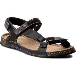 Sandały NIK - 06-0163-00-0-01-00 Czarny. Czarne sandały męskie Nik, z materiału. W wyprzedaży za 159.00 zł.