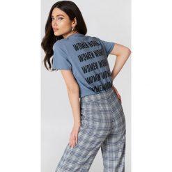 NA-KD T-shirt Women - Blue. Niebieskie t-shirty damskie NA-KD, z nadrukiem, z dzianiny. Za 80.95 zł.