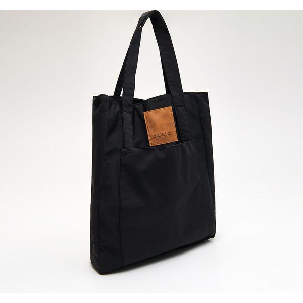 9c193c1dfaca3 Materiałowa torba shopper - Czarny - Czarne torebki shopper damskie ...