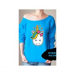 S-xxl wybierz kolory jednorożec bluza z. Brązowe bluzy damskie One mug a day, melanż. Za 149.00 zł.