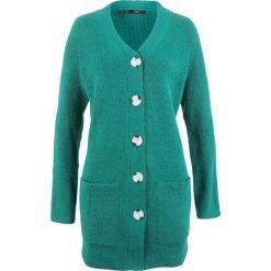 Sweter rozpinany, długi rękaw bonprix dymny szmaragdowy. Kardigany damskie marki bonprix. Za 89.99 zł.
