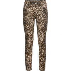 Spodnie w cętki leoparda bonprix czarno-beżowy wzorzysty. Spodnie materiałowe damskie marki DOMYOS. Za 149.99 zł.