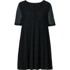 Sukienka koronkowa bonprix czarny. Czarne sukienki damskie bonprix, z koronki, z dekoltem w serek. Za 124.99 zł.