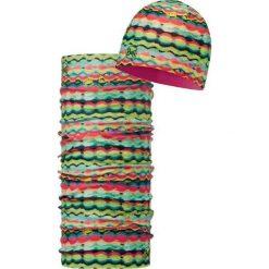 Zestaw juniorski czapka+chusta Hoo Multi Pink Fluor (1142347124). Czapki dla dzieci marki Reserved. Za 115.59 zł.