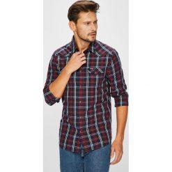 Wrangler - Koszula. Czarne koszule męskie Wrangler, w kratkę, z bawełny, z klasycznym kołnierzykiem, z długim rękawem. Za 219.90 zł.