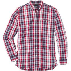 Koszula z długim rękawem Regular Fit bonprix czerwono-niebiesko-biały w kratę. Koszule męskie marki Giacomo Conti. Za 59.99 zł.