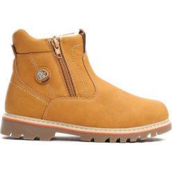 Camelowe Traperki City Park. Brązowe buty zimowe chłopięce Born2be, z materiału. Za 69.99 zł.