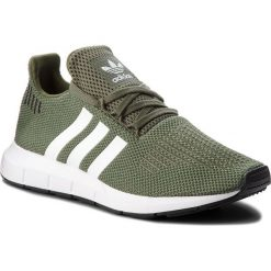 Buty adidas - Swift Run W AQ0866 Basgrn/Ftwwht/Cblack. Zielone obuwie sportowe damskie Adidas, z materiału. W wyprzedaży za 269.00 zł.