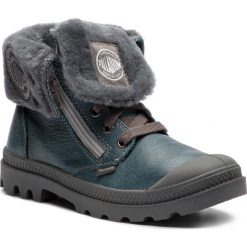 Trapery PALLADIUM - Baggy Leather S 82610-463-M Nordic Blue/Metal. Niebieskie śniegowce i trapery damskie Palladium, ze skóry. Za 449.00 zł.