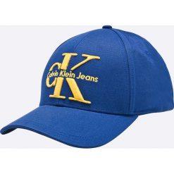Calvin Klein Jeans - Czapka. Niebieskie czapki i kapelusze damskie Calvin Klein Jeans, z bawełny. W wyprzedaży za 139.90 zł.