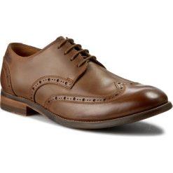 Półbuty CLARKS - Exton Brogue 261177167 Tobacco Leather. Brązowe półbuty na co dzień męskie Clarks, ze skóry ekologicznej. W wyprzedaży za 239.00 zł.
