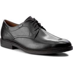 Półbuty CLARKS - Chilverwalkgtx GORE-TEX 261096897 Black Leather. Czarne eleganckie półbuty Clarks, z gore-texu. W wyprzedaży za 409.00 zł.