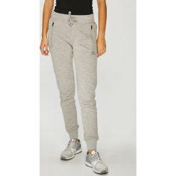 Adidas Performance - Spodnie. Szare spodnie sportowe damskie adidas Performance, z bawełny. W wyprzedaży za 219.90 zł.