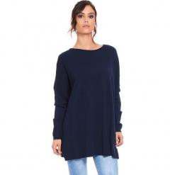 """Sweter """"Odile"""" w kolorze granatowym. Niebieskie swetry damskie Cosy Winter, z okrągłym kołnierzem. W wyprzedaży za 181.95 zł."""