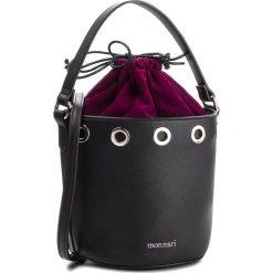 Torebka MONNARI - BAG6030-020 Black With Violet. Czarne torebki do ręki damskie Monnari, w geometryczne wzory, ze skóry ekologicznej. W wyprzedaży za 169.00 zł.