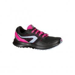 Buty do biegania RUN ACTIVE GRIP damskie. Czarne obuwie sportowe damskie KALENJI, z gumy. W wyprzedaży za 99.99 zł.